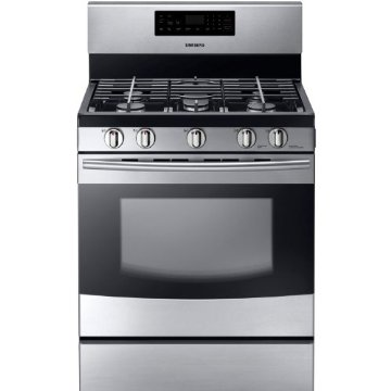 Samsung NX58F5500SS Freestanding 30 5-Burner Gas Range (5.8 Cubic Feet, Stainless Steel)