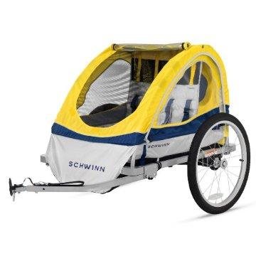 Schwinn Echo Double Bike Trailer (Yellow)