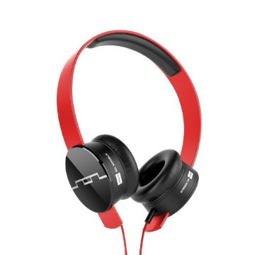 SOL Republic Tracks On-Ear Interchangeable V8 Headphones with 3-Button Mic and Music Control (Red)