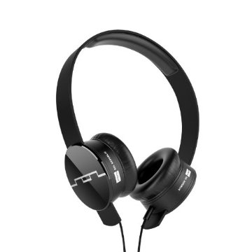 SOL Republic Tracks V8 On-Ear Interchangeable Headphones with 3-Button Mic and Music Control (1211-01, Black)