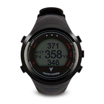 Voice Caddie T1 Hybrid Golf GPS Rangefinder Watch  (Black)