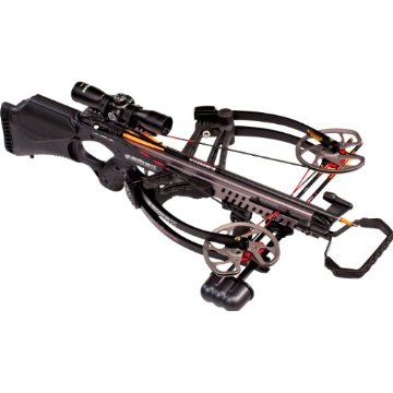 Barnett Vengeance Crossbow Package with 3x32mm Scope, Carbon Quiver Arrows (Black)