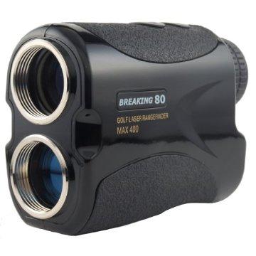Breaking 80 Golf Laser Rangefinder with Advanced Pin Sensor Technology (Black)