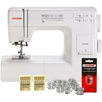 Janome HD3000 Heavy Duty Mechanical Sewing Machine w/ Free Bonus Package