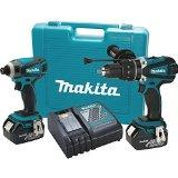 Makita XT218M LXT 18v Lithium-Ion Cordless Combo Kit with Hammer Drill and Impact Driver