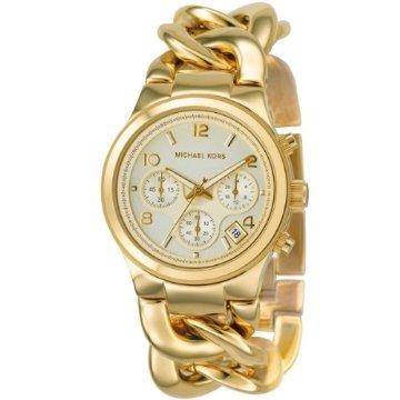Michael Kors MK3131 Chronograph Runway Twist Gold Women's Watch