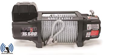 Smittybilt 97515 X2O Gen2 15.5k Wireless Remote Winch with Steel Cable