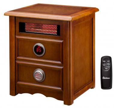 Dr Heater DR999 Advanced 1500W Dual Heating System with Nightstand Design and Remote Control
