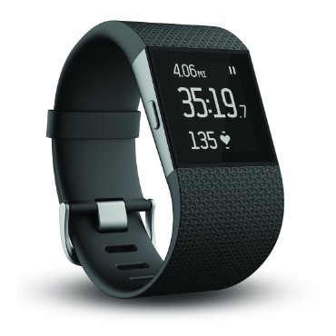 Fitbit Surge Fitness Superwatch (Black, Small)