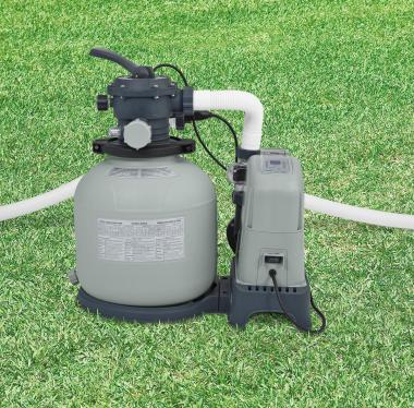 Intex 28675EG 1600 Gph Saltwater System & Sand Filter Pump Swimming Pool Set