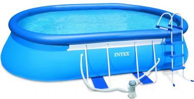Intex 54431EG Oval Frame 18'x10'x42 Pool w/ 1000 GPH Filter Pump Set