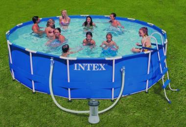 Intex 54939EG Metal Frame Pool Set, 15' x 42