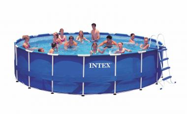 "Intex 54951EG Metal Frame Pool Set, 18' Round by 48"" Deep"