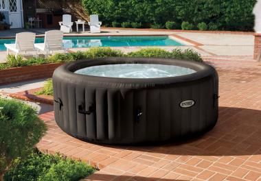 Intex PureSpa 77 Jet Massage Spa Hot Tub with Built-In Hardwater Treatment System (28421E)