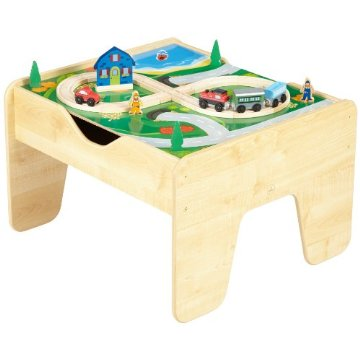 KidKraft 2-in-1 Lego and Train Activity Table with Board (17576)