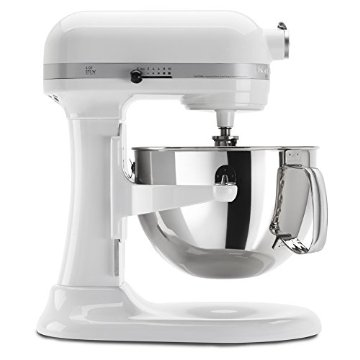 KitchenAid KP26M1XWH 6-Qt. Professional 600 Series Stand Mixer (White)