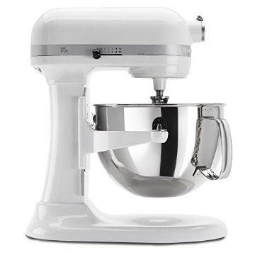 KitchenAid KP26M1XWH 6-Qt. Professional 600 Series Stand Mixer (White)