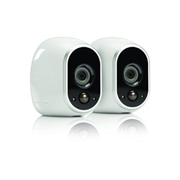 Netgear Arlo Smart Home Security Camera System with 2 HD Indoor/Outdoor Cameras with Night Vision (VMS3230)