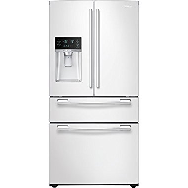 Samsung RF25HMEDBWW 24.7 Cu. Ft. White French Door Refrigerator - Energy Star
