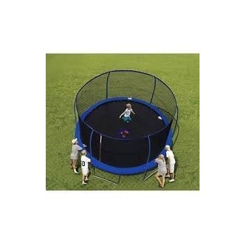 BouncePro 14' Trampoline with SteelFlex Enclosure and Electron Shooter Game
