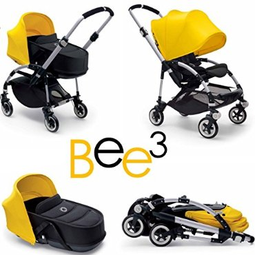 Bugaboo Bee3 and Bassinet Yellow/Black Travel System
