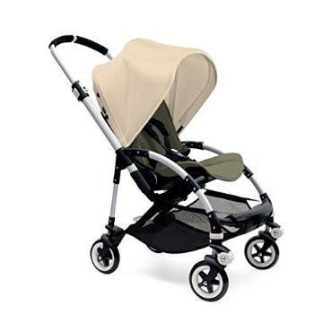 Bugaboo Bee3 Stroller - Off White - Dark Khaki - Aluminum