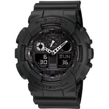 Casio GA100-1A1 G-Shock Black Resin Quartz Watch with Black Dial