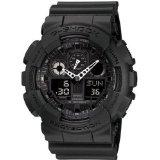 Casio GA100-1A1 G-Shock Black Resin Quartz Watch with Black Dial