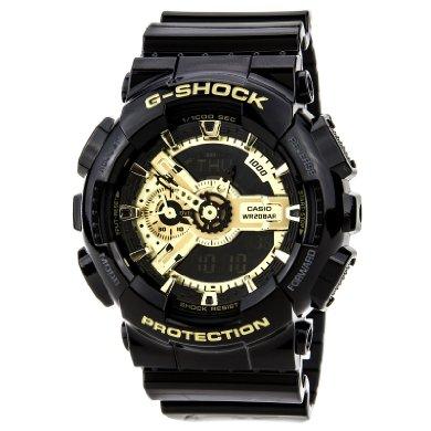 Casio GA110GB-1A G-Shock Digital Anti-Magnetic Gold Tone Analog Watch