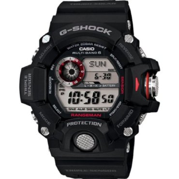 "Casio GW-9400-1CR ""Master of G"" G-Shock Stainless Steel Solar Watch"