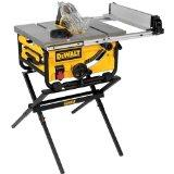 DeWalt DWE7480XA 10 Compact Job Site Table Saw with Guarding System and Stand