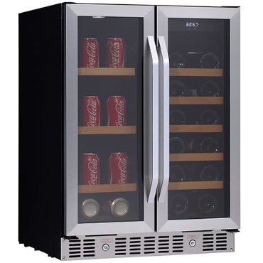 EdgeStar 24 Built-In Wine and Beverage Cooler with French Doors (CWB1760FD)