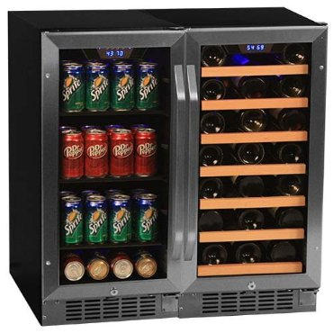 Edgestar 30 Bottle + 80 Can Side-by-Side Wine & Beverage Center