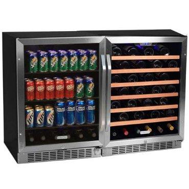 Edgestar 53 Bottle + 148 Can Side-by-Side Wine & Beverage Cooler (CWBV14853)