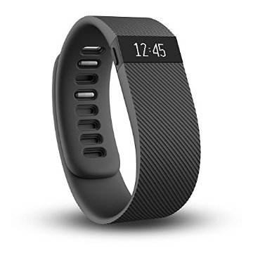 Fitbit Charge Wireless Activity Wristband (Black, Large)