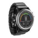 Garmin fenix 3 Sapphire (Watch Only, Gray with Metal Band and Black Rubber Band)