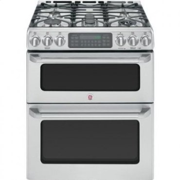 GE Cafe CGS990SETSS Free-Standing Double Oven and Gas Range