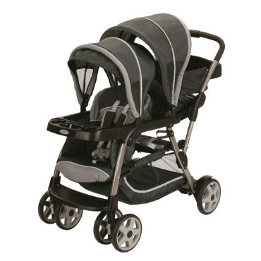 Graco Ready2Grow Click Connect LX Duo Stand & Ride Tandem Stroller, Glacier