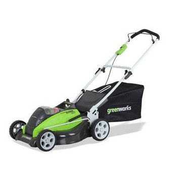 GreenWorks G-MAX 40V Li-Ion 19 Cordless Lawn Mower with 2 Batteries, Charger (25223)