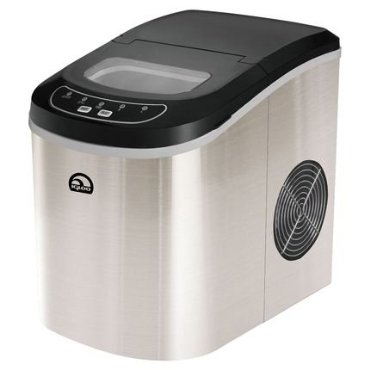 Igloo Compact Freestanding Ice Maker in Silver