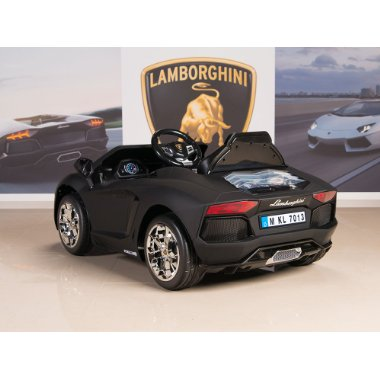 Lamborghini Aventador 12V Ride-On Battery Powered Kid's Car (Black)