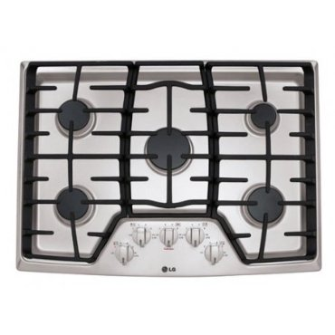 LG LCG3011ST 30 Stainless Steel Gas Sealed Burner Cooktop
