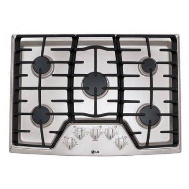 LG LCG3011ST 30 Stainless Steel Gas Sealed Burner Cooktop