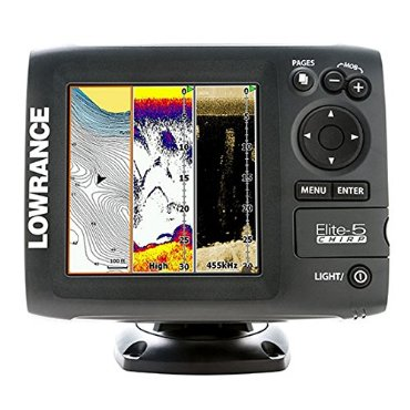 Lowrance Elite-5 CHIRP Gold with 83/200 455/800 Transducer (000-11652-001)