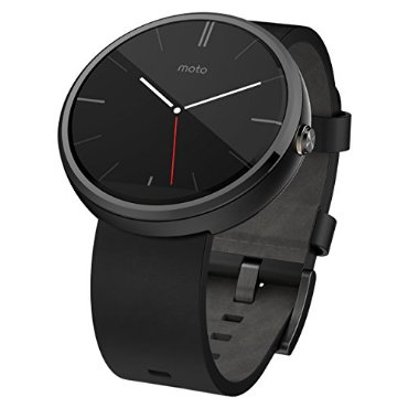 Motorola Moto 360 Smart Watch (Black Leather)