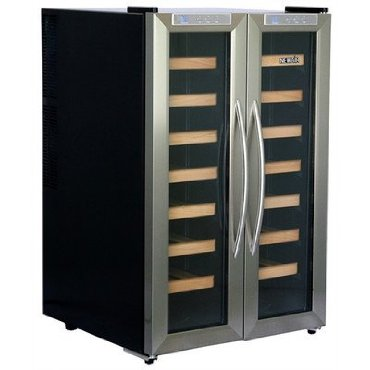 NewAir AW-321ED 32-Bottle Dual Zone Thermoelectric Wine Refrigerator