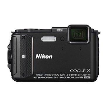 Nikon Coolpix AW130 Waterproof Camera with  5x Zoom, GPS, Wi-Fi, NFC (Black)