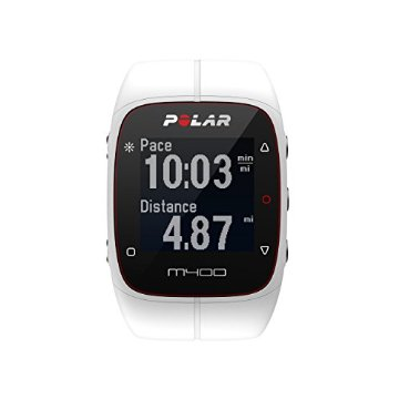 Polar M400 GPS Sports Watch without Heart Rate Monitor (White)
