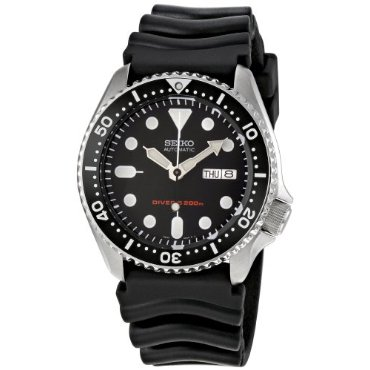 Seiko SKX007K Diver Black Rubber Band Automatic Men's Watch