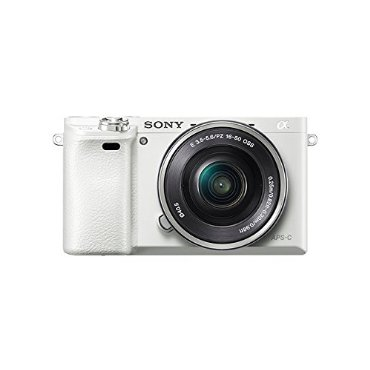 Sony Alpha a6000 Interchangeable Lens Camera with 16-50mm Power Zoom Lens (White)